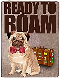 Nutcase Designer Passport Cover Holder Travel Wallet Case made from high-quality Polyfabric & PU leather - Hipster Pug