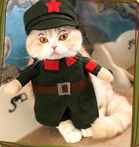 NaXinF Kleidung für Hunde, Herbst, Winter, Kleidung für Tiere, lustige Polizei, Militär, Katzenkleidung, Größe 5