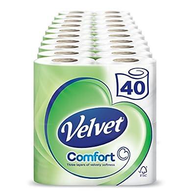 Velvet White Toilet Roll Tissue Paper