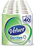 Velvet White Toilet Roll Tissue Paper- 40 Rolls (Pack of 10 X 4)