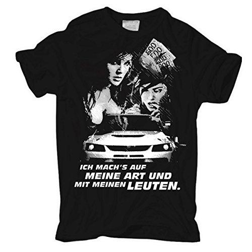 Männer und Herren T-Shirt Auf meine Art mit meinen Leuten Schwarz