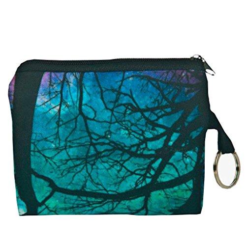 Geldbörsen, Rcool Mädchen aus Polyester Handtasche Clutch Reißverschluss Null Brieftasche Telefon Schlüsseltaschen drucken (Blau) Grün