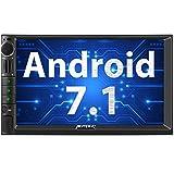 PUMPKIN Android 7.1 Autoradio Moniceiver 2GB mit Navi Unterstützt Bluetooth WLAN 4G DAB+ FastBoot Android Auto USB MicroSD Subwoofer 2 Din 7 Zoll Bildschirm Universal