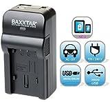 Baxxtar Razer 600 Ladegerät 5in1 - kompatibel für Akku Canon NB-13L - MicroUSB Eingang/USB Ausgang zum Laden von Drittgeräten, Smartphones usw.