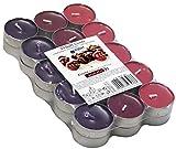 30 farbig sortierte Duft - Teelichte, 4 Std Brennd., Duft: Cherry / Kirsche, Markenware von Müller Kerzen