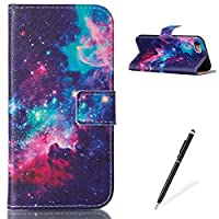 iPhone 7 4.7 Inch case, Feeltech iPhone 7 leather case,Flip Folder Card Holder Portable Carrying Folio Wallet Cover,Elegant Premium Design [Colorful Painting Pattern] Full Body Protection PU Leather Holster Credit Card Slots Stand Function With Skin Soft Inner Rubber Magnetic Closure Book Style for