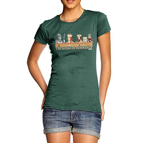 TWISTED ENVY Women's The House Of Normandy Short Sleeve Graphic T-Shirt