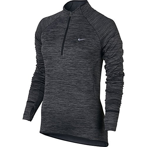 Nike Element Sphere Laufshirt mit Half-Zip, damen, Element Sphere 1/2 Zip, Grau (Herren T-shirt Element Short)