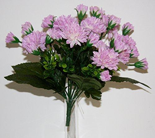 Decoartificielles - Bouquet Chrysanthème Pâquerette X 12 Lavande