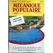 MECANIQUE POPULAIRE [No 181] du 01/06/1961 - CONSTRUISEZ VOTRE PISCINE -LA CITE SOUTERRAINE -LES MILLE MERVEILLES D'UN ENFANT -LE PONT AERIEN DU POLE SUD -LA CUISINE DANS L'ESPACE -SAUVEZ LES TEMPLES DU NIL