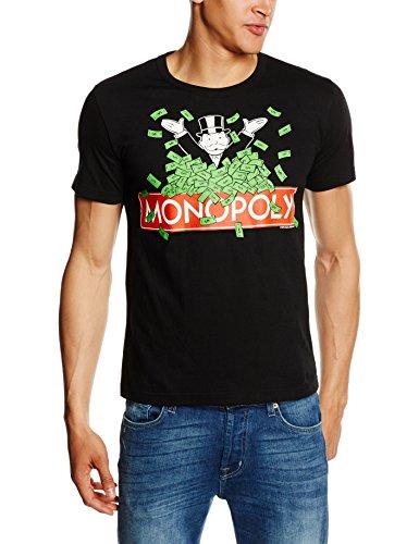 Logoshirt, Herren T-shirt, Gr. M, Schwarz - -