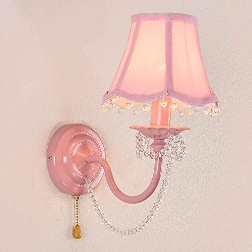 american-semplice-camera-per-bambini-lampada-da-parete-calore-pastorale-girl-pink-princess-house-cry