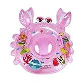 XJRHB Anillo de natación del bebé Engrosamiento Anillo Flotante bebé Asiento Inflable Asiento de natación para niños (Color : Pink)