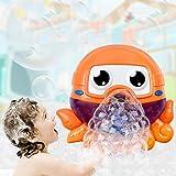 FOONEE Kinder-Badeblasenmaschine, 12 Kinderreime, Octopus Blasenmaschine für Kinder, Baby-Luftblasen-Maschine für Kinder Orange
