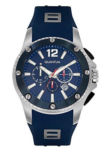 QUANTUM Herren-Armbanduhr Hunter Chronograph Quarz Silikon HNG388.399