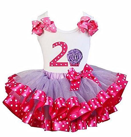 Kirei Sui Hot Pink Polka Dots Tutu 2nd Rosette Cupcake
