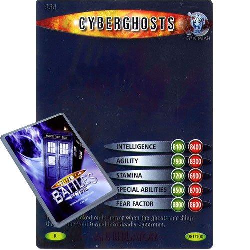 Preisvergleich Produktbild Doctor Who, einzelne Karte: Annihilator 081 Cyberghosts Dr Who Time-Kämpfe in Rare Karte