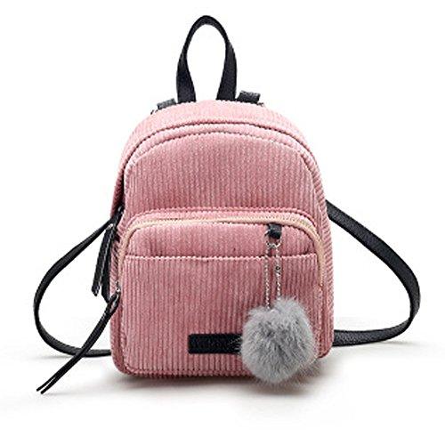 Tohole Cord Handtasche Damen Tasche Schultertasche Crossbody Bag Shopper Soft Rucksack All In One Multifunktions Süßer Mini Rucksack(Rosa,1PC) -