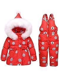 SANMIO - Traje de Nieve para niña, 2 Piezas, Chaqueta de plumón con Capucha