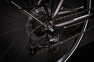 "28"" Zoll Alu MIFA Herren Trekking Fahrrad Shimano Deore 24 Gang Nabendynamo grau"