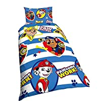 Paw Patrol Nickelodeon Childrens/Kids Pawsome Work Reversible Quilt/Duvet Cover Bedding Set
