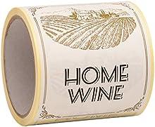 Etiquetas de botella de vino exclusiva casa para Viña Inicio entusiasta, 100 etiquetas, 9 cm x 12 cm
