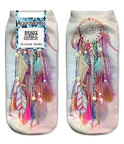 Coucharmy TrickyBZ Chaussettes entièrement imprimées motifs donuts, licorne, fruits etc. – Taille unique (36–40) – 1paire - multicolore - taille