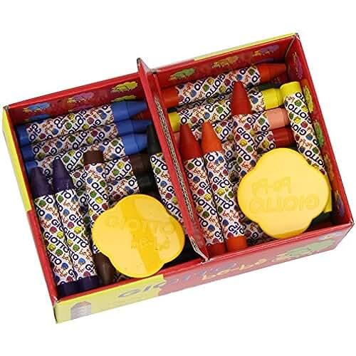 mas dibujos kawaii Giotto be-bè 462700 - Pack 40 súper ceras irrompibles de colores y 2 sacapuntas