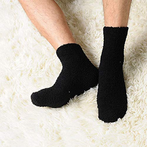 ruiruiNIE 2019 Extrem Gemütlich Cashmere Socken Männer Frauen Winter Warmen Schlaf Bett Boden Haus FluffyBlack