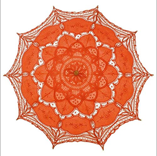 Hochzeits-Spitze-Regenschirm-Regenschirm-Retro- Braut-Kostüm-Regenschirm-Regenschirm-Handwerksspitze-dekorativer Foto-Regenschirm Netter Spitze-Sonnenschirm (Farbe : ()