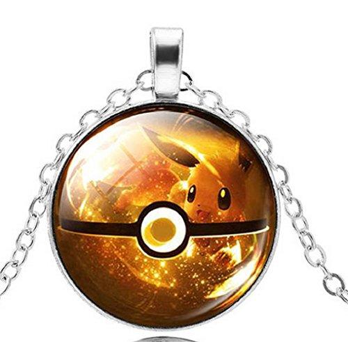 pkmn2-pokemon-poke-kugel-halskette-go-pokeballs-in-6-farben-zur-auswahl-gelb