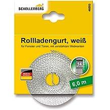 Schellenberg 46103 - Cinta de persiana (14 mm de ancho, 6 m) color blanco
