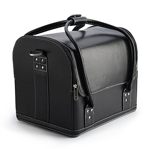 Voilà Make Up cosmétiques Boîte de rangement Noir noir Dimension(Approx): 30cm(L) x 24cm(W)x 26cm(H).