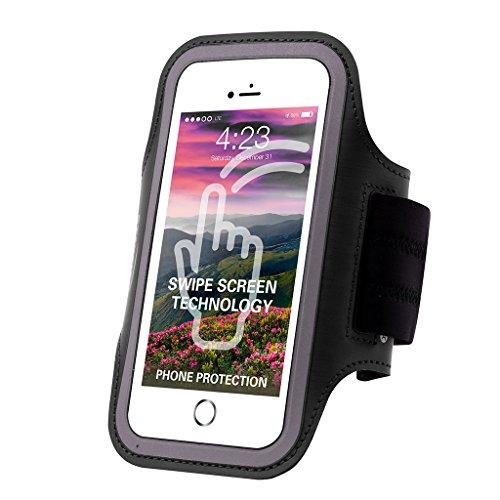 Sportarmband für Motorola Moto G7 / G7 Plus / Z4 Play/Samsung Galaxy S10 / S10 Plus/LG V50 ThinQ/Sony Xeon 10, schwarz (Lg-touch-handys Entsperrt)