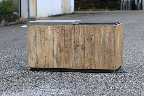 greemotion 130553 2 in 1 Sitzbank mit Pflanzkübel/Einsatz, Holz, Gartenbank Kiefer/Pflanzgefäß, integriertem Blumenkübel, Sitz, Natur, 85,5 x 43,5 x 47 cm