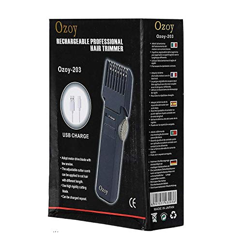 YOZO Cordless rechargeable Waterproof Beard Trimmer with Fast Charging - 10 length settings