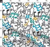 Musik, Musiker, Klavier, Notizen, Lied, Konzert Stoffe -