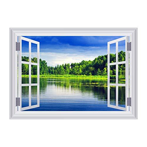 , Creative Gefälschtes Fenster Meer 3D Art Kunst-Aufkleber-Abziehbild-Wandgemälde Abnehmbarer Hauptküche-Grafik-Wand-Aufkleber Schlafzimmer Wohnzimmer Multi Styles 01 ()