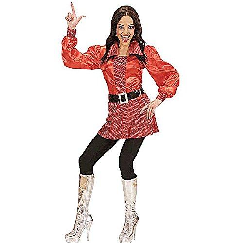 70 er Jahre Disco Fever Party Kostüm rot Größe ()