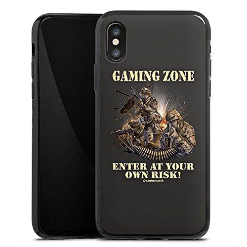 Apple iPhone X Silikon Hülle Case Schutzhülle Gaming Zone Game Sprüche Silikon Case schwarz