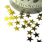 14g Streudeko Konfetti Hochzeit Stern EinsSein® klein gold metallisch Tischdeko Party Weihnachten