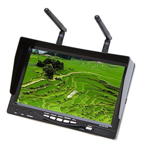 Preisvergleich Produktbild RC732 DVR All in one 7in 800 480 HD LCD Monitor FPV Live Übertragung Eingebaute Batterie und 32CH Wireless Diversity Empfänger