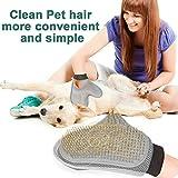 Poppypet Fellpflegehandschuh Bürste für Hunde, Fellpflege Hundebürste, Entfernt lose Haare, massiert Ihren Hund, mit Metall Noppen, Metallborsten, Massagehandschuh