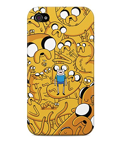 Adventure Time Jake The Dog Finn The Human Trippy Hard Plastic Snap On Back Case Cover For iPhone 4 / 4s Custodia