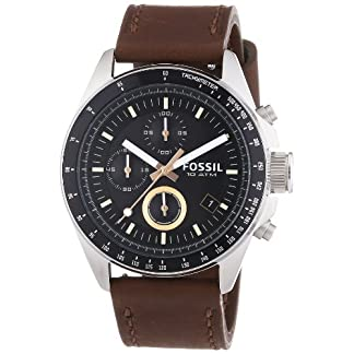 Fossil End of Season Decker Chronograph Black Dial Men's Watch – CH2885