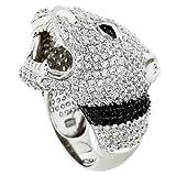 """SARAH KERN """"OPIS"""" Ring, Gr.19, Zirkonia, 925 Sterling Silber, rhodiniert, HEAT Kollektion, SW00047-19"""
