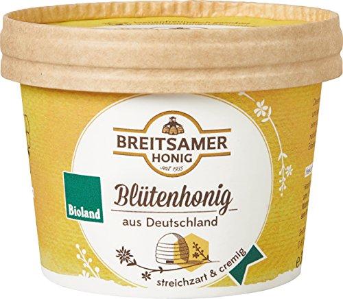 Breitsamer Honig Deutscher Bio-Blütenhonig cremig im 315g Becher
