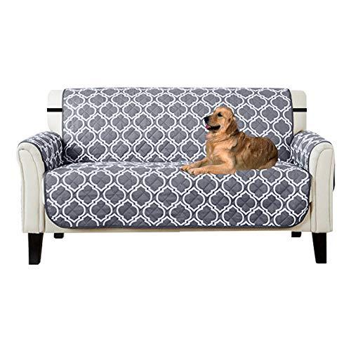 Lovestory copridivano 2 posti impermeabile reversibile antiscivolo trapuntato luxury protegge da animali extra con divano slipcovers (2 posti)