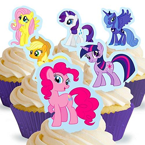 und Essbare My Little Pony Kuchen Topper (Tortenaufleger, Bedruckte Oblaten, Oblatenaufleger) ()