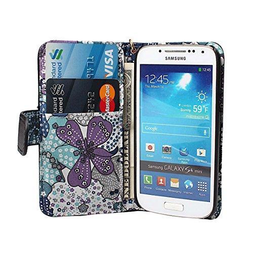 xhorizon® Prämie PU [Schwarz] Leder Geldbeutel Stand Schleife Band Kasten Case Hülle Decke/Beutel/Holster Tasche mit Blumen Innenraum für [4.7inch] iPhone 6 mit einer sauberer Kleidung Schwarz mit Blumen